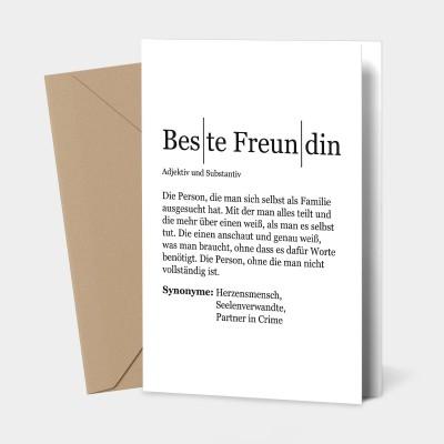 Beste Freundin - Grußkarte