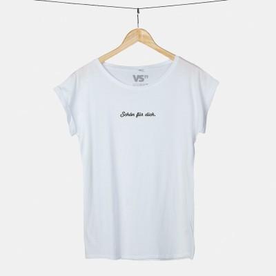 """Schön für dich - T-Shirt von VS"""" - Damenshirt weiß mit Rundhalsausschnitt"""