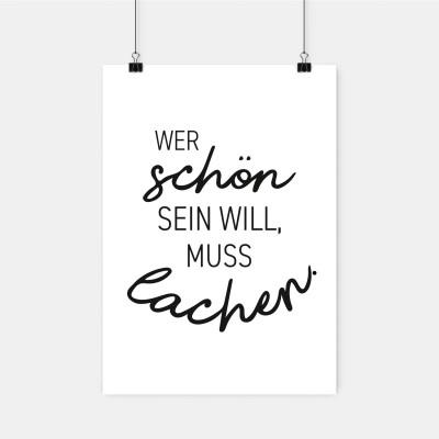 """Poster VS"""" - Wer schön sein will, muss lachen"""
