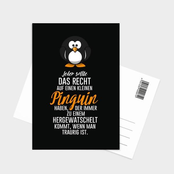 Kleiner Pinguin - Postkarte