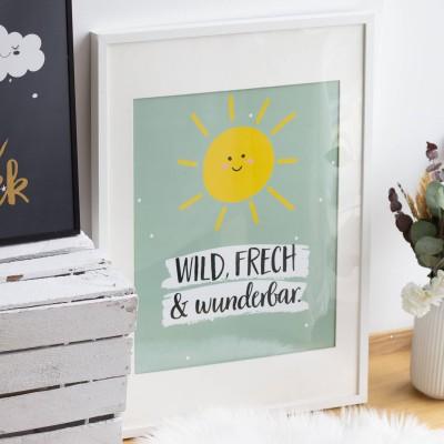Wild, frech und wunderbar - Poster lalelove - Poster für das Kinderzimmer