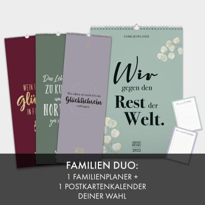 Kalender-Set: Familien Duo
