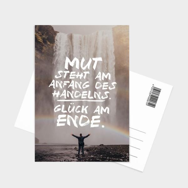 Mut steht am Anfang - Postkarte