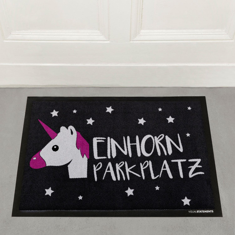 einhornparkplatz fu matte fu matten wohnen visual statements. Black Bedroom Furniture Sets. Home Design Ideas