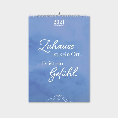 LIEBLINGSMENSCH Monatswandkalender A3 - Familie