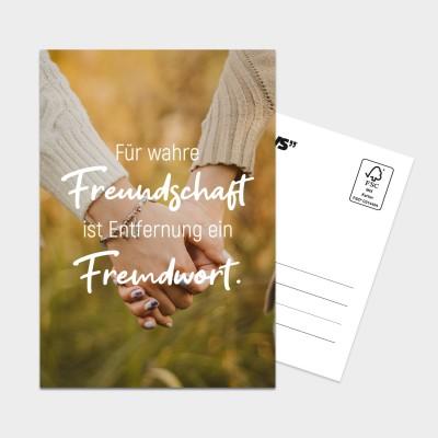 Freundschaft - Postkarte