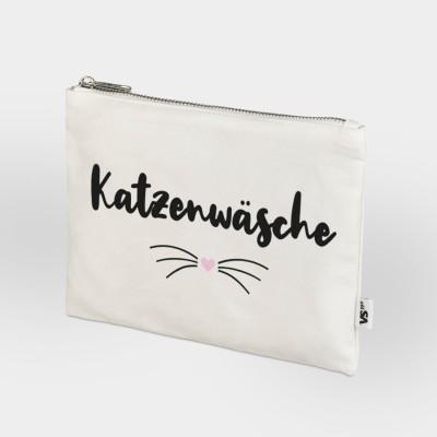 """Stylische Kulturtasche """"Katzenwäsche"""" von VS'' Weiß"""