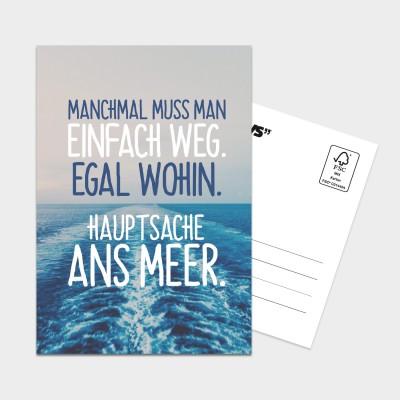 """Einfach weg - Postkarte von VS"""""""