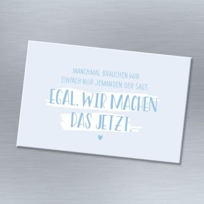 Magnet blau mit Spruch - Freundschaft