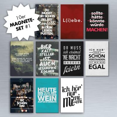 Bunte Mischung- 10er Magnet-Set