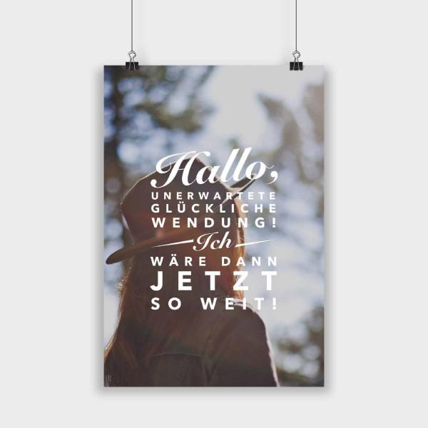 Hallo unerwartete Wendung - Poster