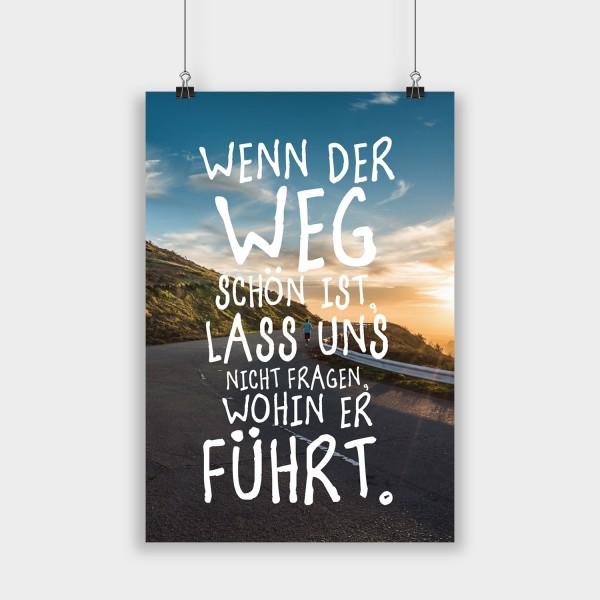 Wenn der Weg schön ist - Poster