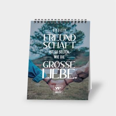 Monatstischkalender 2020 A5 - Freundschaft