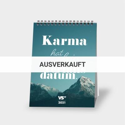 Karma - Monatstischkalender 2021 A5
