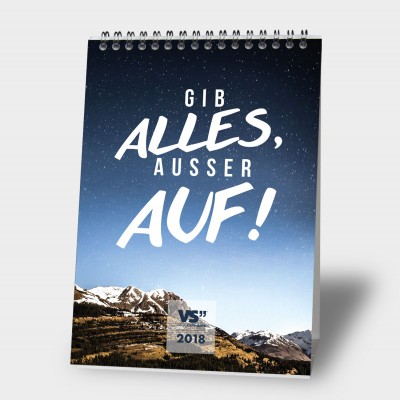Abenteuerlust / 2018 - Monatstischkalender