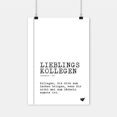 """Poster Lieblingskollegen - """"Lieblingskollegen"""""""