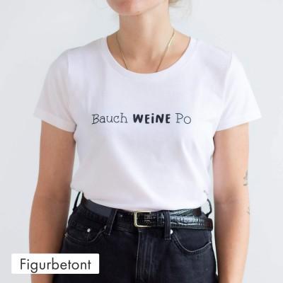 Figurbetontes T-Shirt - Bauch Weine Po