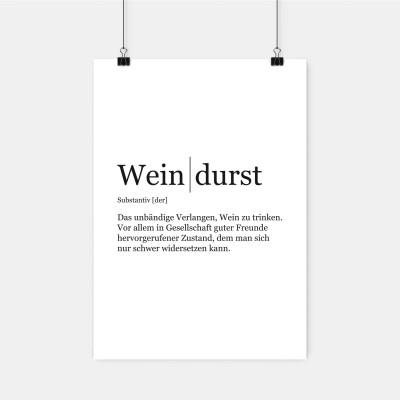 """Poster VS"""" - Weindurst"""