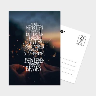 Manche Menschen - Postkarte
