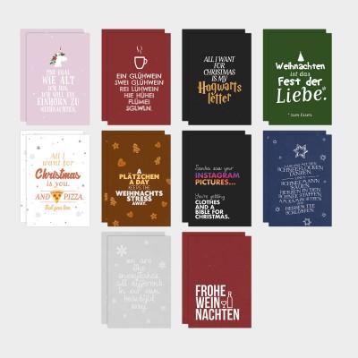 20er Postkarten-Set - Weihnachten