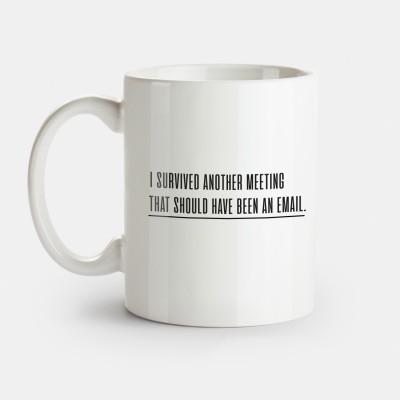 Witzige Tasse für nervige Meetings im Arbeitsalltag - bei Visual Statements