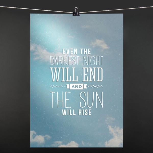 Even the darkest - Poster