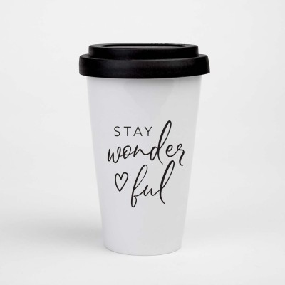"Visualstatements To-Go-Becher ""Stay wonderful"""