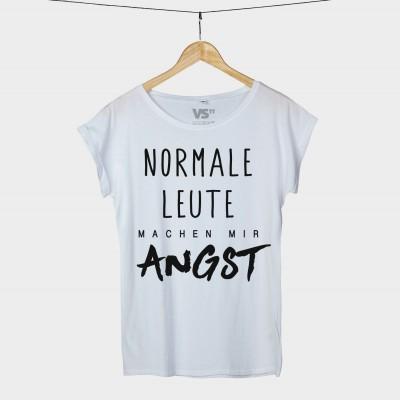 """T-Shirt """"Normale Menschen machen mir Angst"""" weiß"""