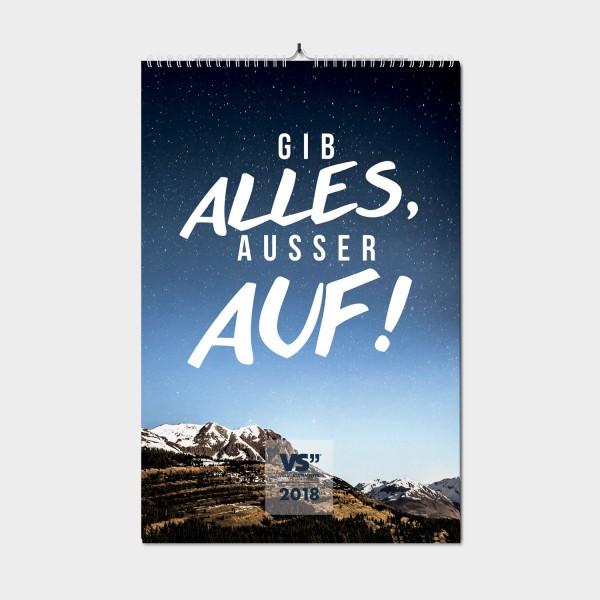 Abenteuerlust / 2018 - Monatswandkalender